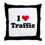 I love traffic Throw Pillow