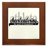 Cheer Athlete (Black/White) Framed Tile