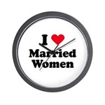I love married women Wall Clock