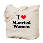I love married women Tote Bag