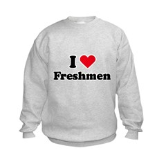 I Love Freshmen Kids Sweatshirt
