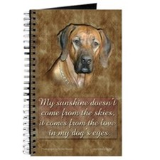 Rhodesian Ridgeback Dog Journal