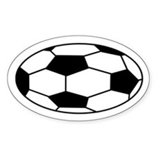 SOCCER!! Oval Decal