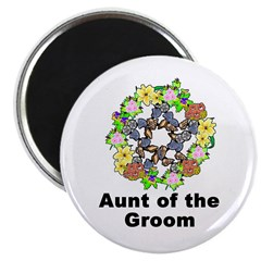 Pagan Pentagram Aunt of the Groom Magnet
