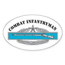 CIB 2 Combat Infantryman Oval Decal