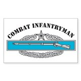CIB 2 Combat Infantryman Rectangle Decal
