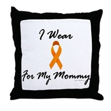 I Wear Orange For My Mommy 1 Throw Pillow