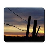 Barbwire Fence Sunset Mousepad