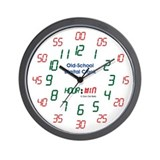 Old-School Digital Clock Wall Clock