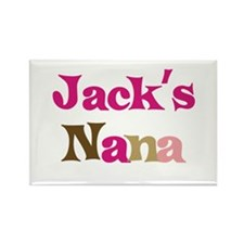 Jack's Nana Rectangle Magnet