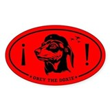 Obey the Doxie! Icon Oval  Aufkleber