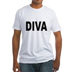 Diva (Front) Fitted T-Shirt