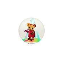 Singing Teddy Bear Mini Button (10 pack)