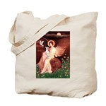 Seated Angel / Ital Greyhound Tote Bag