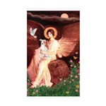 Seated Angel / Ital Greyhound Sticker (Rectangle)