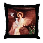 Seated Angel / Ital Greyhound Throw Pillow