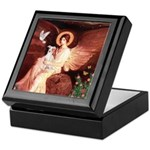 Seated Angel / Ital Greyhound Keepsake Box