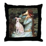 Ophelia / Italian Greyhound Throw Pillow