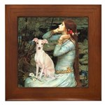 Ophelia / Italian Greyhound Framed Tile