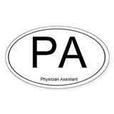 Physician Assistant Oval Bumper Stickers