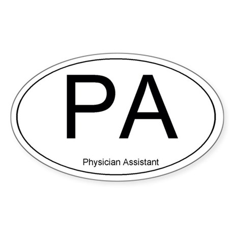 Physician Assistant Oval Sticker