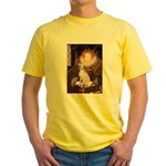 Queen / Italian Greyhound Yellow T-Shirt