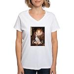 Queen / Italian Greyhound Women's V-Neck T-Shirt
