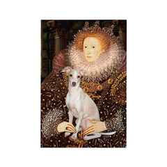 Queen / Italian Greyhound Rectangle Magnet (10 pac
