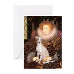 Queen / Italian Greyhound Greeting Cards (Pk of 20