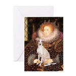 Queen / Italian Greyhound Greeting Card