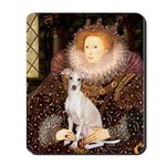 Queen / Italian Greyhound Mousepad