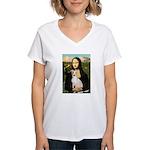 Mona Lisa / Ital Greyhound Women's V-Neck T-Shirt