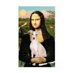 Mona Lisa / Ital Greyhound Sticker (Rectangle)