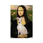Mona Lisa / Ital Greyhound Rectangle Magnet (10 pa