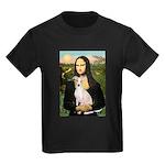Mona Lisa / Ital Greyhound Kids Dark T-Shirt