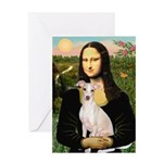 Mona Lisa / Ital Greyhound Greeting Card