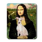 Mona Lisa / Ital Greyhound Mousepad