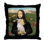 Mona Lisa / Ital Greyhound Throw Pillow
