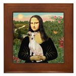 Mona Lisa / Ital Greyhound Framed Tile