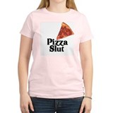 pizza slut  Women's Pink T-Shirt
