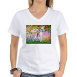 Garden / Ital Greyhound Women's V-Neck T-Shirt