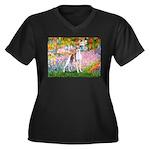 Garden / Ital Greyhound Women's Plus Size V-Neck D
