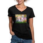 Garden / Ital Greyhound Women's V-Neck Dark T-Shir