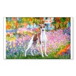 Garden / Ital Greyhound Sticker (Rectangle)