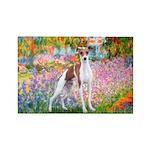 Garden / Ital Greyhound Rectangle Magnet (10 pack)