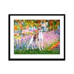 Garden / Ital Greyhound Framed Panel Print