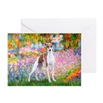 Garden / Ital Greyhound Greeting Cards (Pk of 10)
