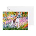 Garden / Ital Greyhound Greeting Card