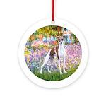 Garden / Ital Greyhound Ornament (Round)