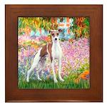 Garden / Ital Greyhound Framed Tile